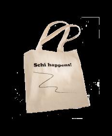 "Jutebeutel ""Schi happens!"""